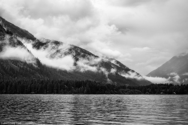 Clouds over Stehekin and North end of Lake Chelan