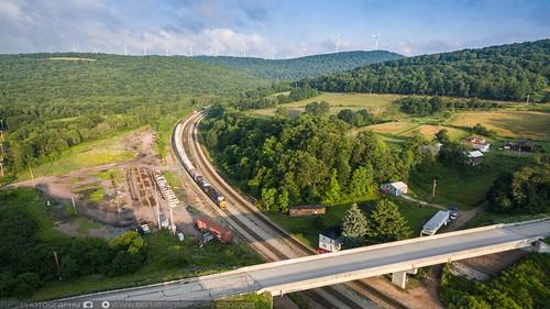 railroad us unitedstates pennsylvania trains aerial aerialphotography meyersdale csx drone csxt phantom3 sandpatch dji sandpatchgrade dronephotography csxq352 djiphantom3 phantom3pro djiphantom3pro