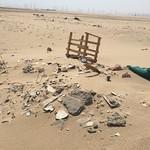 trash in desert