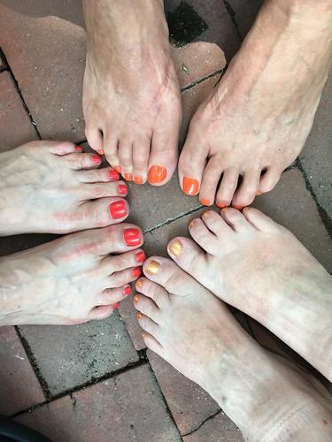 Requisite Daily Kos orange toenail polish exhibition | by Neeta Lind