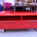 Retro gloss red 2 drawer low to unit €120