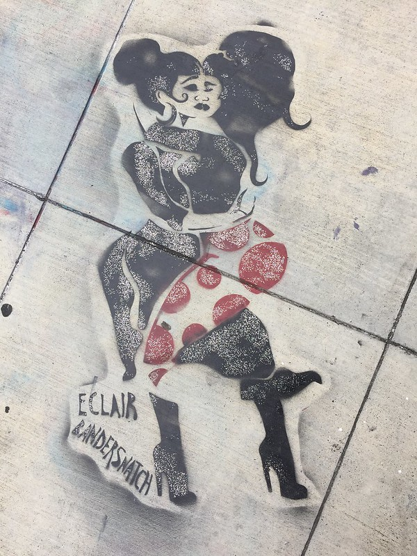 Eclair Bandersnatch: lesbian couple stencil