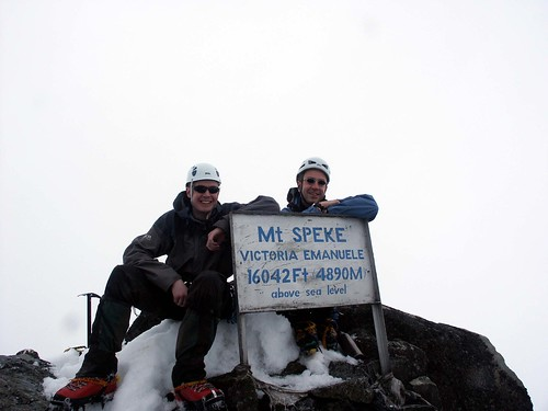 Me and Thierry on the summit of Mt Speke (4890m). | by markhorrell