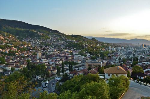 landscape cityscape sarajevo bosnia sunny bosniaandherzegovina miljacka