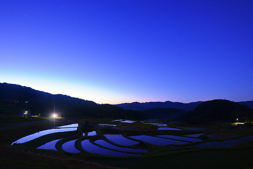 morning mountain nature sunrise star nikon dusk wide shimane agriculture nano ricefield tranquil paddyfield mountainrange terraced logexposure sanin d600 earlybird 島根 1635mm unnan 山陰 大東 terracedricefield 棚田百選 雲南市 山王寺棚田 山王寺