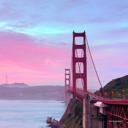 vista point view golden gate bridge north sunrise luckysnapshot sfist