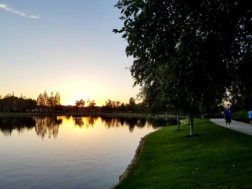 ranchosantamargarita lagosantamargarita california photo digital cameraphone summer dusk lake park sunset