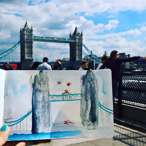 Realised my last #DailyArt post was from Day 219. It has been so hectic, so haven't had time to post more. Now, here's my first attemp at urban sketching in London. Unfinished sketch of Tower Bridge after a tour of Tower of London, on Day 222. And Day 2 o | by Shai Coggins