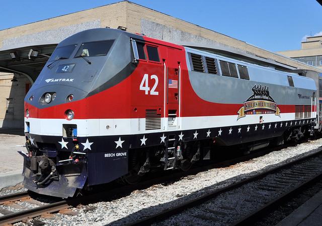 AMTK#42 GE P42DC ROSTER VETERANS UNIT TOLEDO,OHIO 5-2-15 SATURDAY