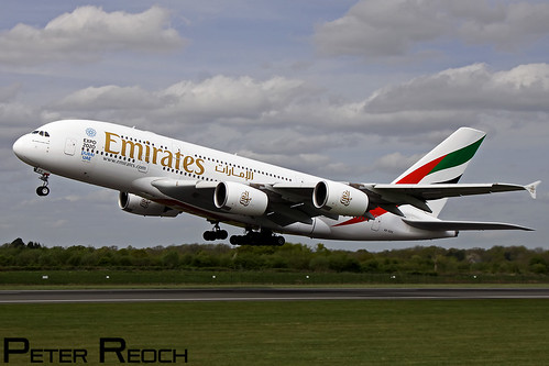 ? / Emiates / Airbus A380-861 | by Peter Reoch