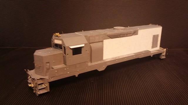 CSX - MATE (Road Slug) GP35 (Body) #2230 - Stripped - HO Scale - Cond Front 3-4 - Jun-7-15 - K. Crawley