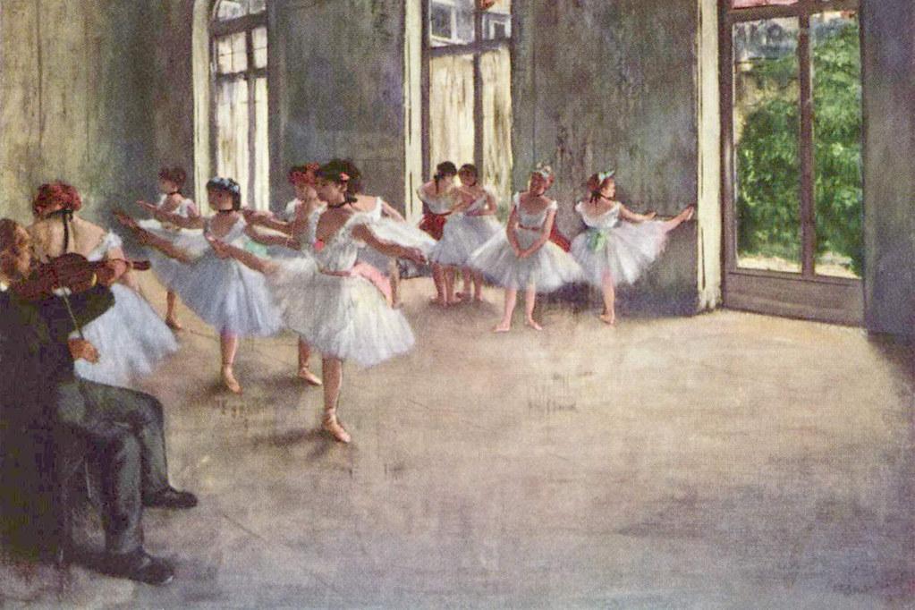 Ballet Rehearsal, Edgar Degas, 1873, The Fogg Art Museum, Cambridge, Massachusetts