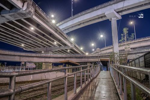 city bridge station night landscape long railway nichols skyway interchange pnr exporure