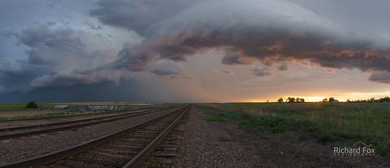 Amazing Shelf Cloud at Sunset