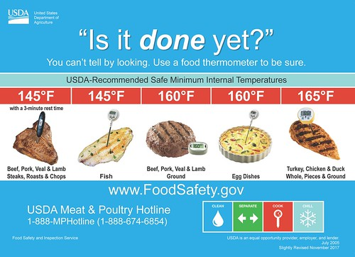 Is It Done Yet Magnet - 2018   by USDA Food Safety