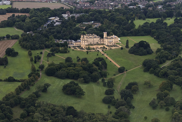 Osborne House on the Isle of Wight - aerial