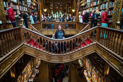 Deya at Livraria Lello Bookshop Porto   by nan palmero