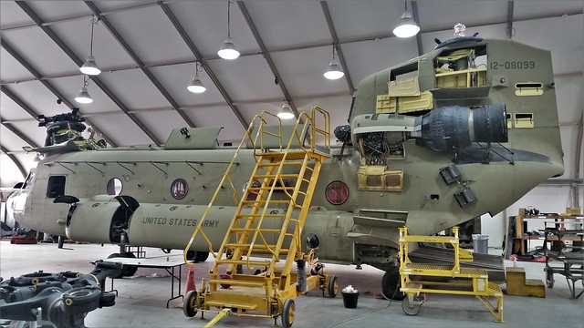 CH-47F Chinook 12-08099 1-111th AVN GSAB U.S.ARMY. Camp Buehring/ Udairi Army Airfield, Kuwait. 2016.