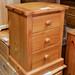 Pine 3 drawer locker E45