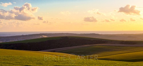 sussex downs national park sunset curves golden