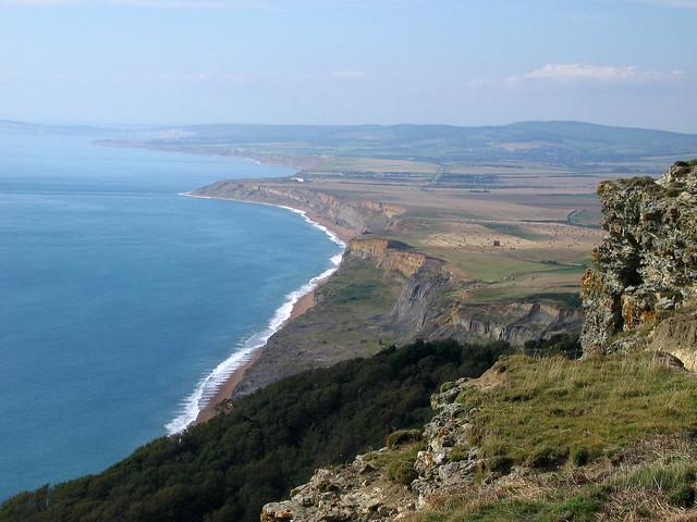 The coast near Blackgang Chine, Isle of Wight