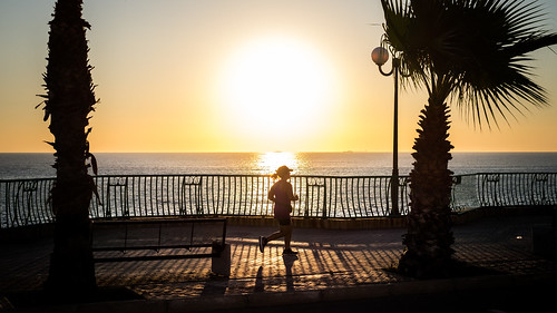 Running at sunrise - Malta - Color street photography | by Giuseppe Milo (www.pixael.com)
