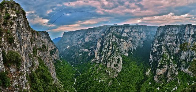 Χαράδρα Βίκου Vikos Gorge panorama