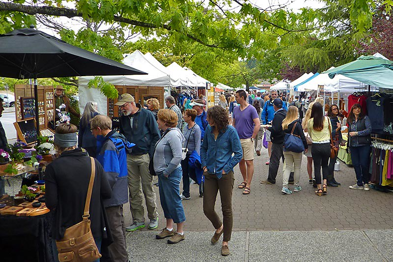 Saturday Market on Saltspring Island, Gulf Islands, British Columbia, Canada