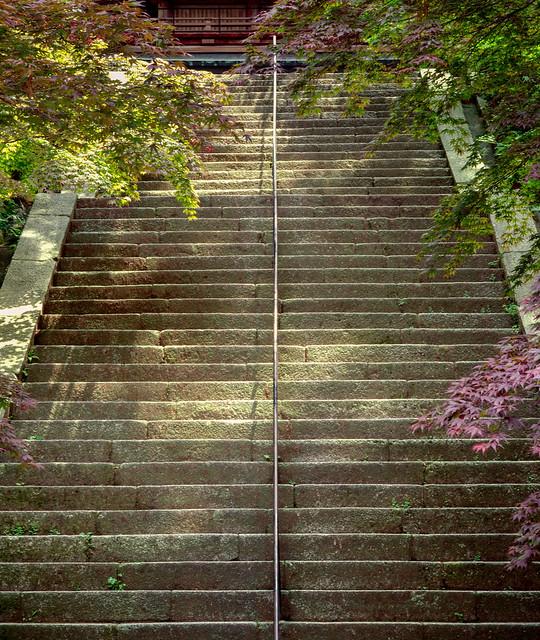 Steps ascending from the Kompochudo, Hieizan