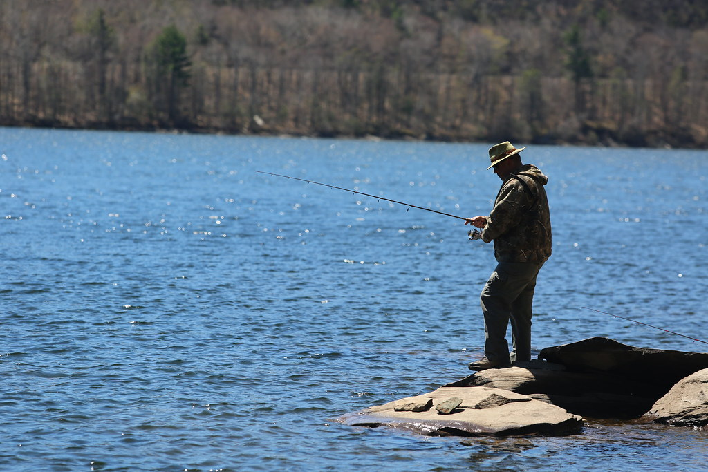 Fishing at Rondout Reservoir