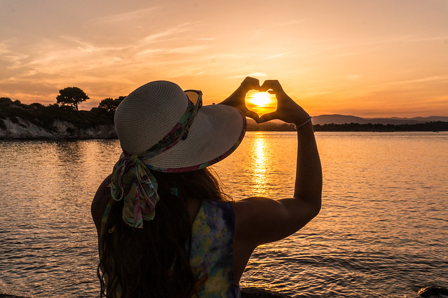 vourvourou, sunset @ caridi beach