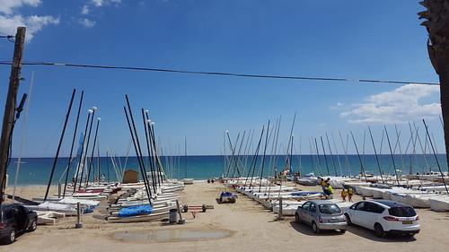 Imatges de la platja abans de la sortida de dissabte