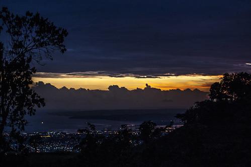 port sunset puesta de sol serenidad