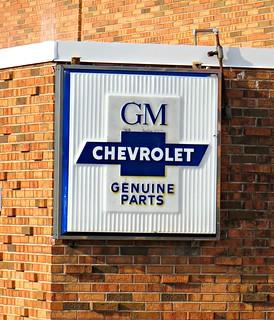Genuine Chevrolet Joliet Il This Vintage Chevrolet Sign