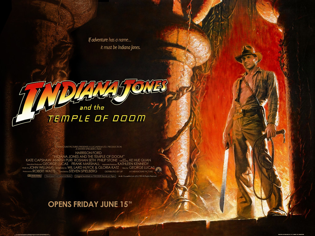 indiana-jones-and-the-temple-of-doom-quad-poster | If the UK… | Flickr