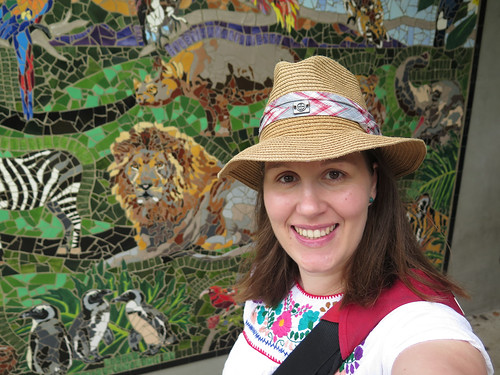 Me and another great mosaic at the zoo | by HelenPalsson