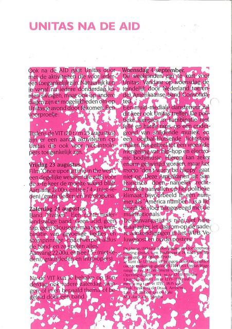 Unitas AID Uitkrant 1991 – augustus (5/5)
