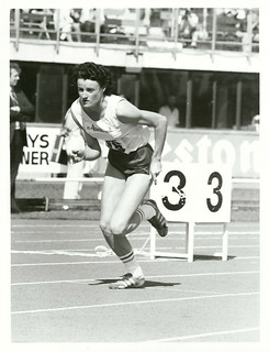 N.Z.A.A.A. Championships. Q.E.2 Park. Women's 400 metres sprint. Kim Robertson (Auckland)