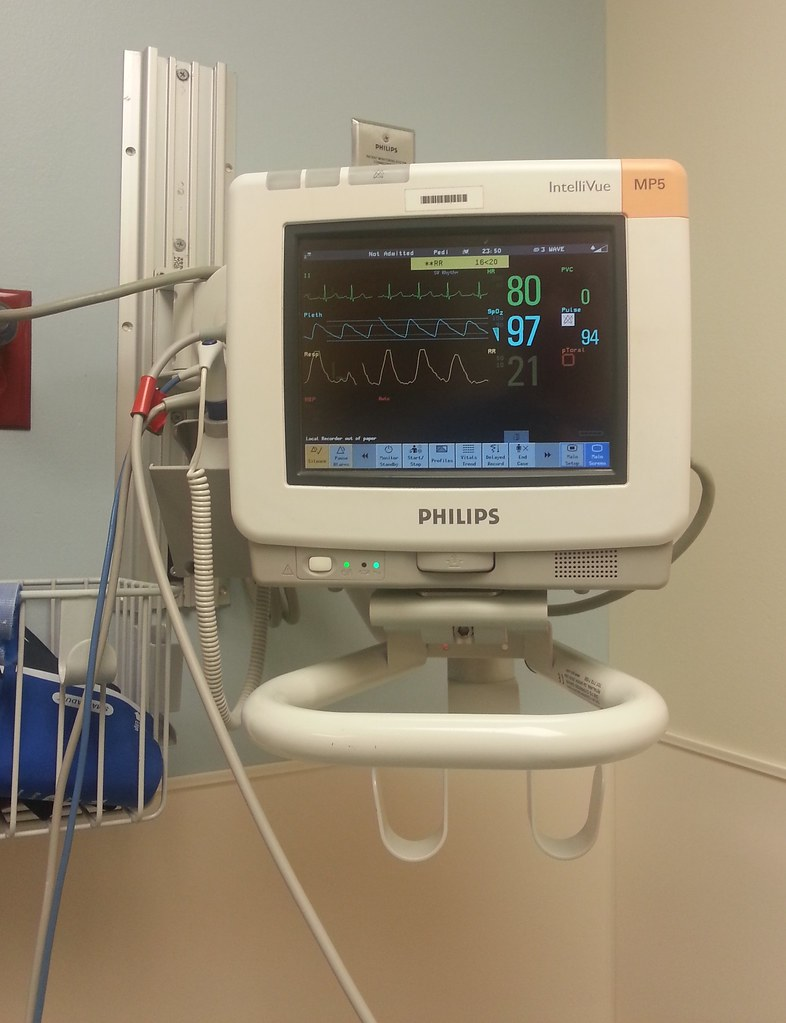 IntelliVue MP5 Vital Patient Monitor in Hospital Emergency
