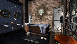 4 Seasons of Bedrooms: Autumn Glow (Fall Bathroom) | by Hidden Gems in Second Life (Interior Designer)