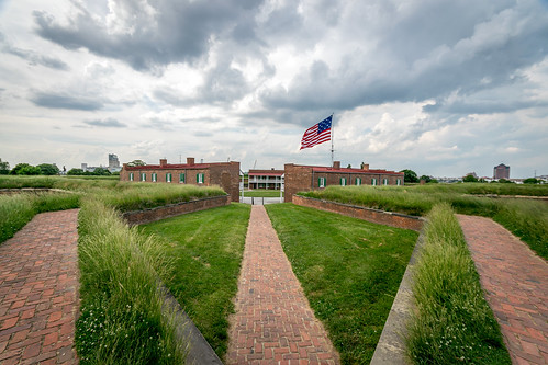 a Wide Angle shot of Fort McHenry