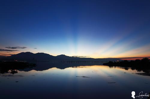 sunrise canon taiwan 台灣 日出 五股 ef1740 霞光 eos5d2 五股濕地 新北市