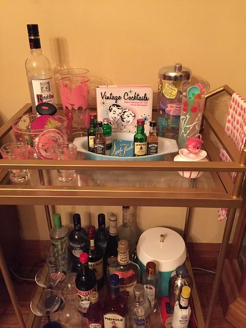 My bar cart! Always adding to it!
