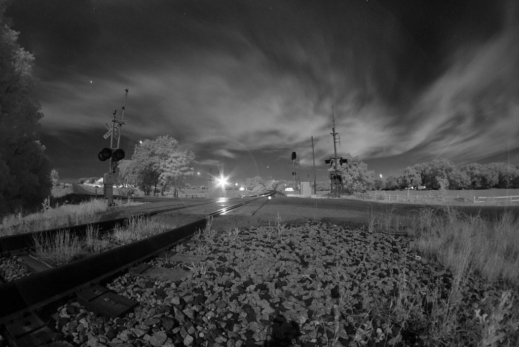 Dunn Rd. Railroad Crossing Twilight