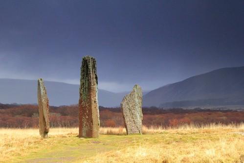 wild rural landscape scotland countryside standingstones remote wilderness moor prehistoric arran isleofarran neolithic moorland machriemoor