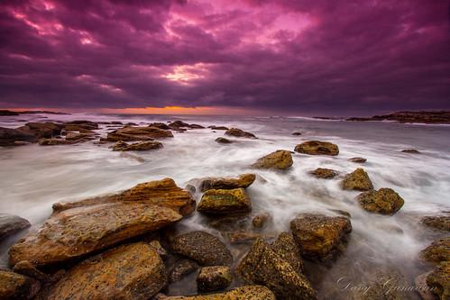 sunrise sydney rocky australia maroubra littlebay rockfishing