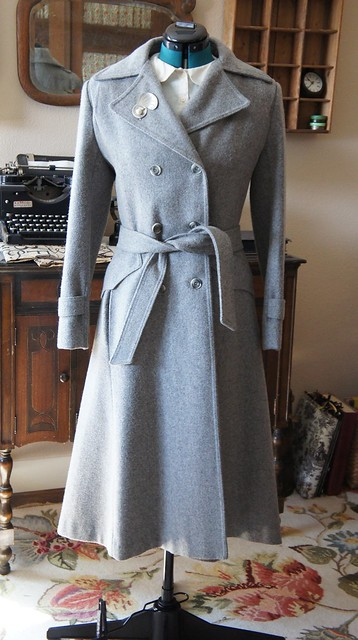 Vintage Grey Wool Coat