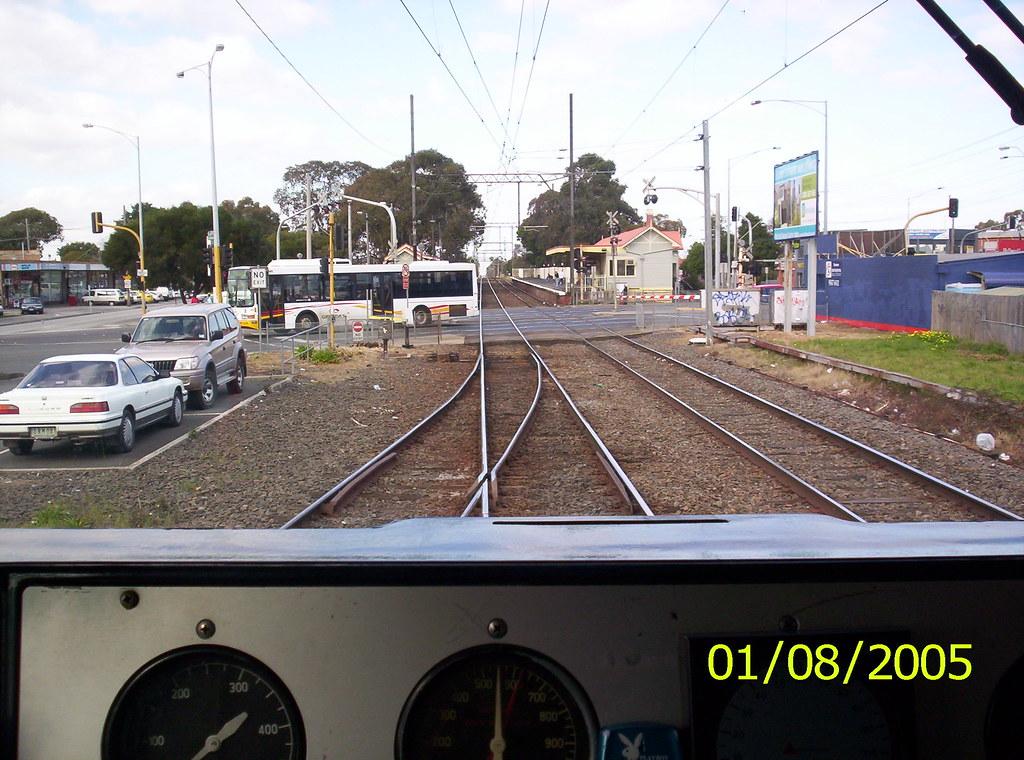 Bus across the Tracks, Springvale, Melbourne, 2005 by MurrayJoe