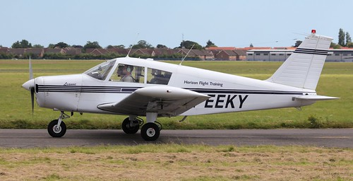 Piper PA-28-140 (Modified) Cherokee, G-EEKY Lee on Solent Airfield 2016 | by SupaSmokey