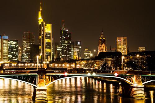 Skyline Frankfurt am Main bei Nacht | by Jutta M. Jenning